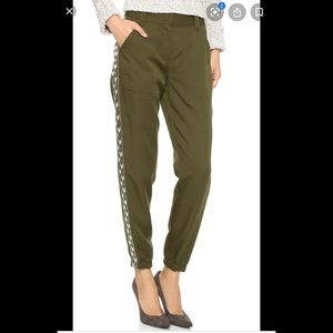 Rebecca Taylor Embroidered Twill Pants Size 4